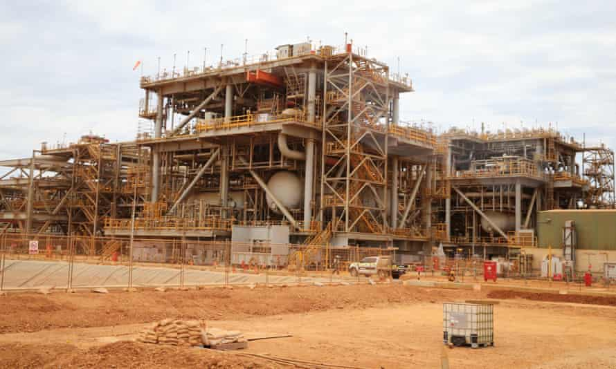 Chevron's enormous Gorgon LNG project during construction in 2016