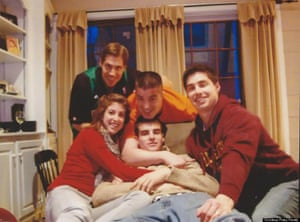 James Foley (standing at back) with his four younger siblings.