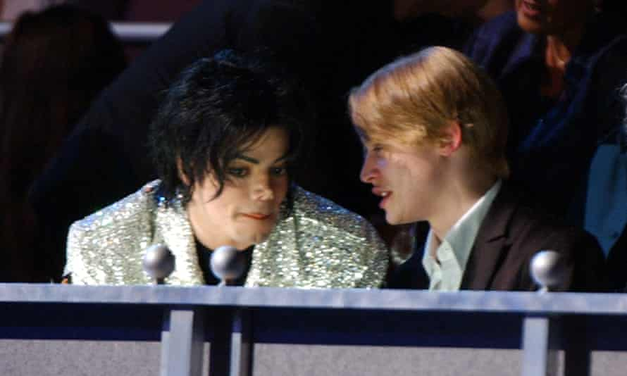 With Michael Jackson in 2001.