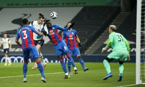 Gareth Bale of Tottenham Hotspur scores their second goal past Vicente Guaita of Crystal Palace.