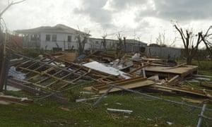 The aftermath of Hurricane Irma on Barbuda.