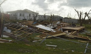 A house in Barbuda wrecked by Hurricane Irma.