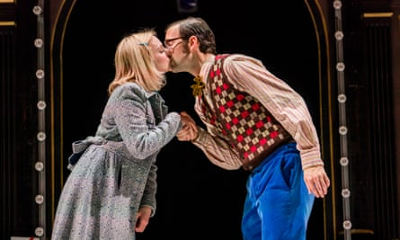 Carly Bawden (AngéŽlique) and Dominic Marsh (Jean-RenéŽ) in Romantics Anonymous.