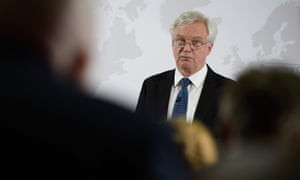 David Davis delivers a speech on Britain's security relationship with the EU after Brexit
