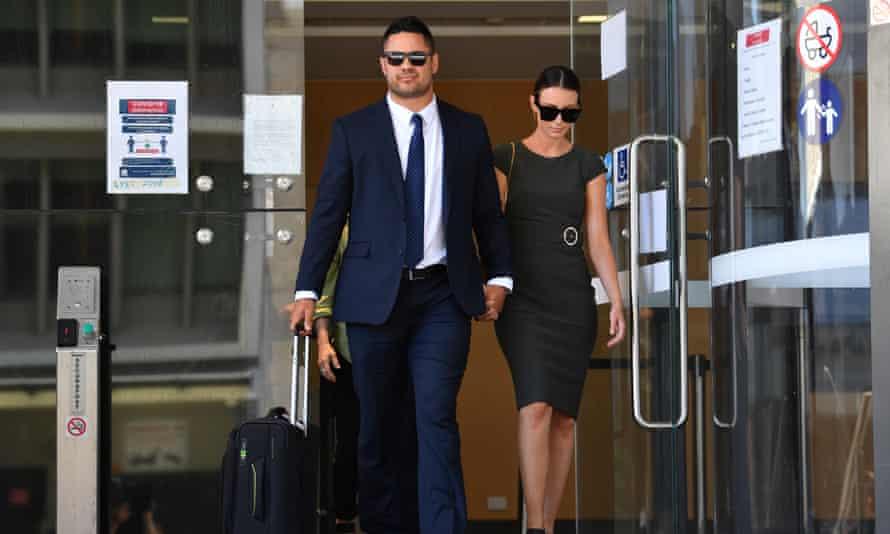 Jarryd Hayne leaving court