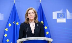 EU's health commissioner, Stella Kyriakides