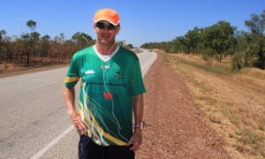 David Alley, 39, on the Stuart Highway north of Pine Creek in the Northern Territory.