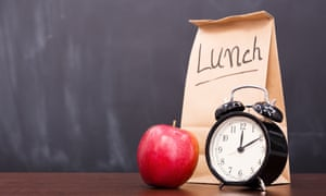 A packed lunch and an alarm clock