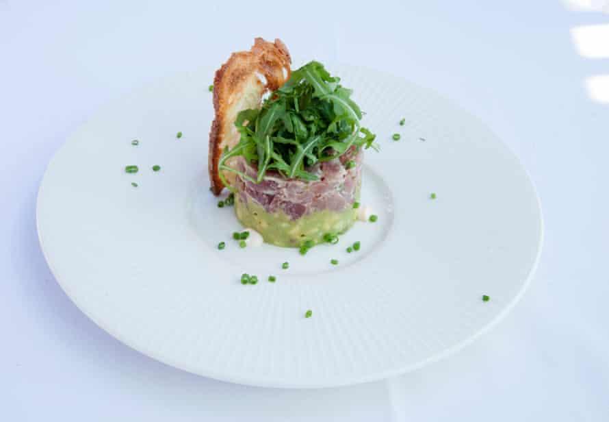 The tuna tartare with avocado, Alto at Selfridges, London.