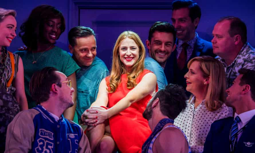 Rosalie Craig in Company by Stephen Sondheim at the Gielgud Theatre in London.