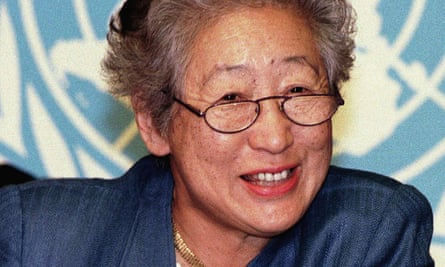 Sadako Ogata was quietly spoken and courteous in negotiations but direct and persuasive.