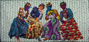 I Know Why the Caged Bird Sings by textile artist Bisa Butler.
