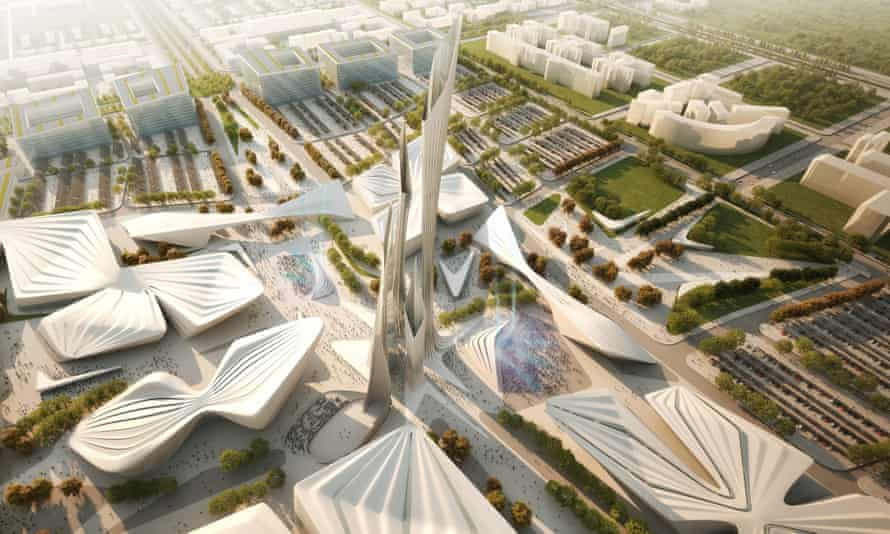 Zaha Hadid's proposal for Astana Expo site.