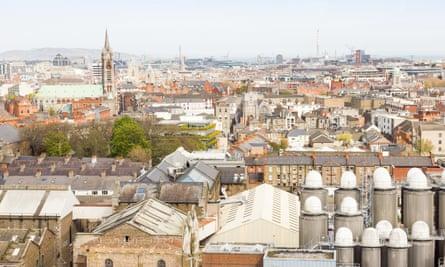 Aerial view of Dublin.