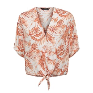 Pink floral tie-front, £17.99, newlook.com