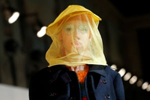 Paris, France: A model presents a creation by John Galliano
