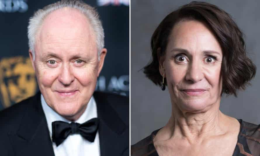 John Lithgow and Laurie Metcalf who will be playing the Clintons in Hillary and Clinton.