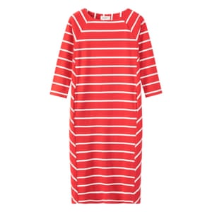 "Stripe dress, £89, <a href=""http://www.toa.st/uk/product/new+late+summer/C1EAA/Interlock+Cotton+Wide+Stripe+Dress.htm?categoryref=%2fcategory.aspx%3fcategoryid%3dnew%2520late%2520summer%26seoterm%3dlate%2520summer%26&amp;pcat=new+late+summer&amp;adimage=&amp;clr=C1EAA_AntiqueRedIvory"">toa.st</a>."