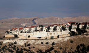 The Israeli settlement of Maale Adumim in the West Bank. Benjamin Netanyahu lauded Pompeo's announcement, saying the US had righted a 'historical wrong'.