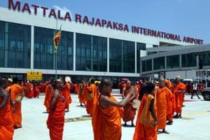 The inauguration of Sri Lanka's Mattala Rajapaksa international airport.