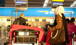 A Muslim woman at Heathrow's terminal 5.