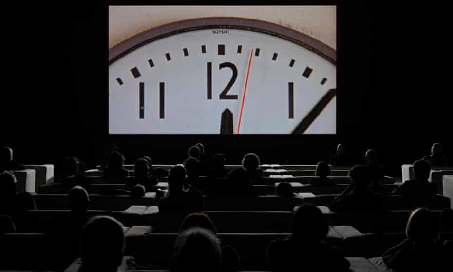 A tour-de-force of borrowed movie footage ... The Clock.