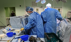 An operation taking place