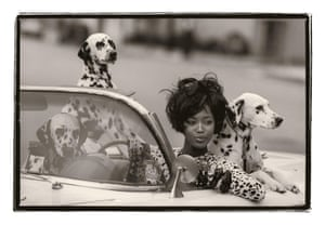 Naomi Campbell in a shoot by Peter Lindbergh.