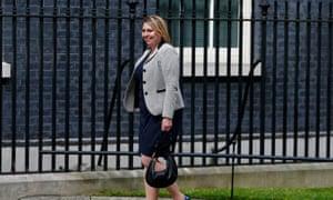 Karen Bradley arriving at Number 10.
