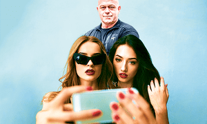 Ross Kemp with Instagram influencers