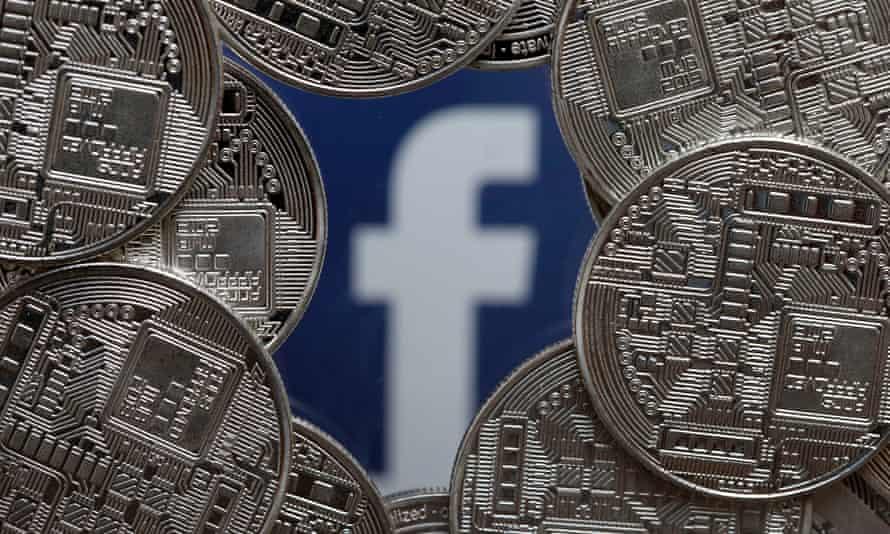 coins and the facebook logo