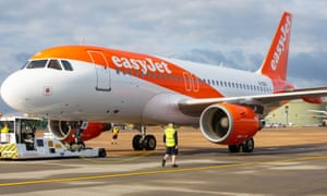 An easyJet plane at Gatwick Airport.