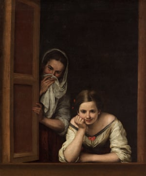 Two Women at a Window, 1655-1660, by Murillo.