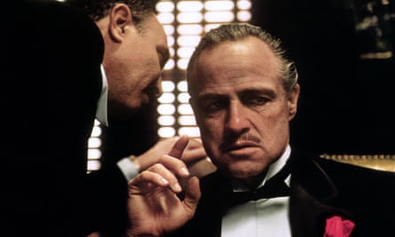 Marlon Brando in the film adaptation of The Godfather (1972).