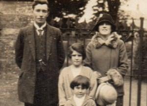 Snapshot … Catherine Webley's mother, Blenda (front), aunt Geth and grandparents Blodwyn and William John Hockey