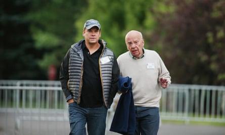 Rupert Murdoch and Lachlan Murdoch