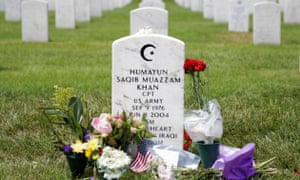The tombstone of Cpt Humayun Khan.