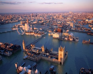 London As Venice by Robert Graves and Didier Madoc-Jones, aerial photograph by Jason Hawkes ©www.postcardsfromthefuture.com @futurepostcards