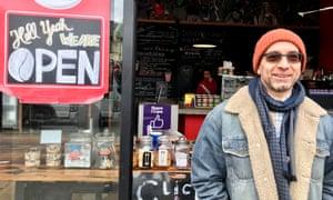 Zafer Isiklar, a cafe owner in Mt Eden, Auckland.
