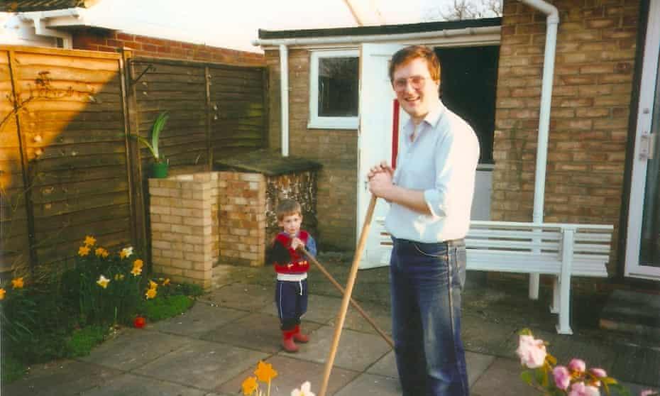 Simon Bray and his dad