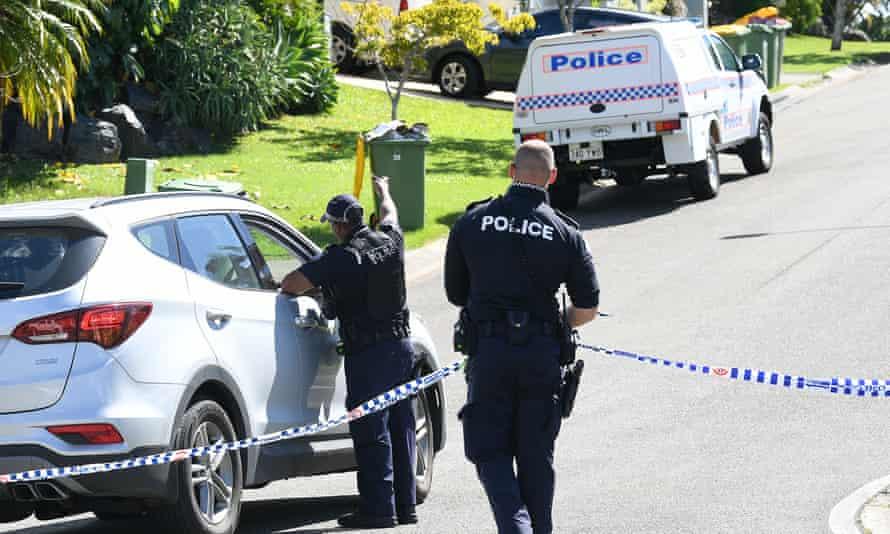 Police work near a crime scene in Arundel on the Gold Coast