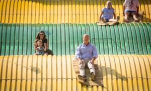 John Delaney takes a ride at the Iowa State Fair in Des Moines last August.