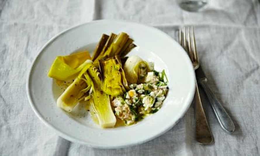 Fergus Henderson's butter bean, leek and cauliflower salad.