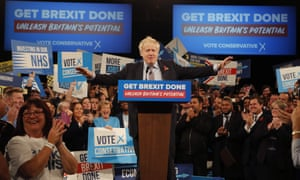 Boris Johnson speaks in Birmingham.