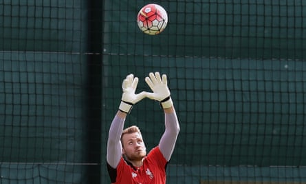 Liverpool's Simon Mignolet during a training session at Melwood