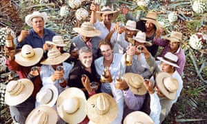 George Clooney and Rande Gerber with Casamigos tequila producers