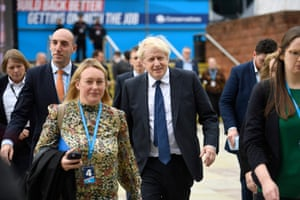 Boris Johnson at the Conservative conference in Manchester.