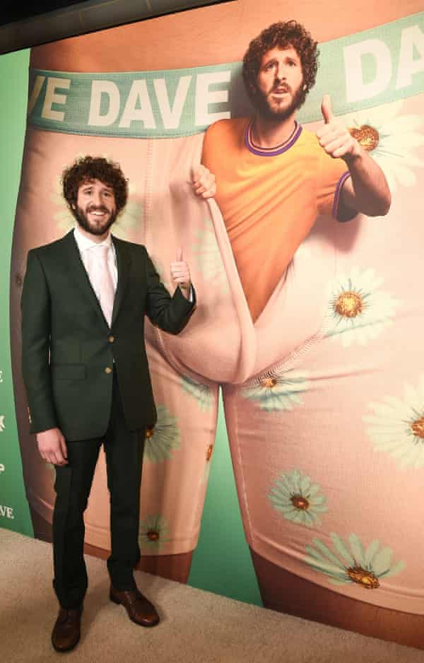 Lil Dicky at the Los Angeles premiere of Dave in February.