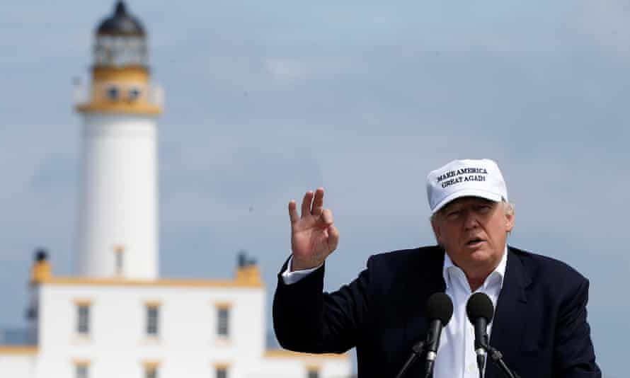Donald Trump at the Turnberry golf course in June.