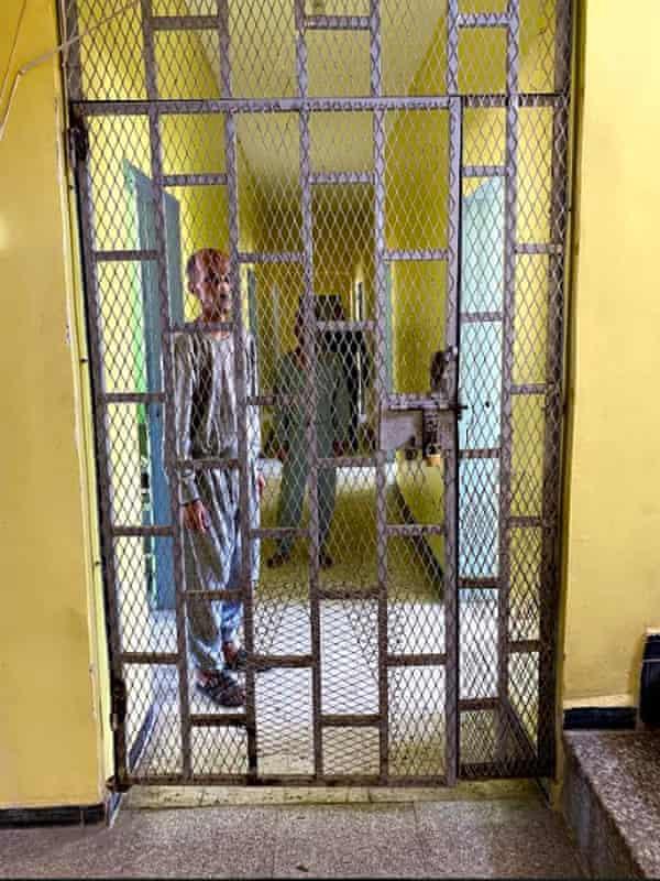 A ward at Taiz psychiatric hospital.